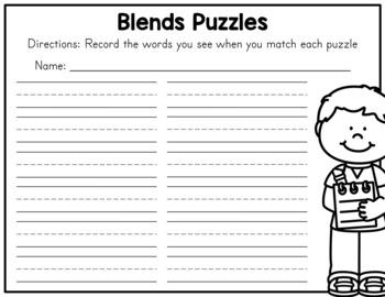 Beginning Blends Puzzles