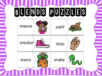 Beginning Blends Puzzles