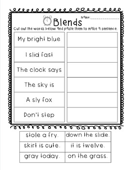 Beginning Blends Resources: Puzzles, Worksheets, Stories and More