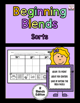 Beginning Blends Sorts - R-Blends Edition