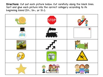 Beginning Blends Sorts and Making Words Activities: Sm, Sk