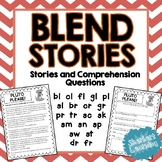Beginning Blends Stories - Reading Comprehension Passages and Questions
