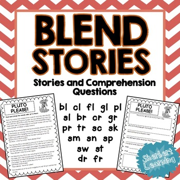 Beginning Blends / Diagraphs Stories - Reading Comprehension Passages Questions