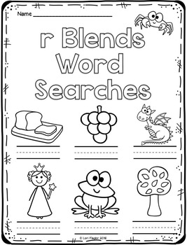 Beginning Blends Word Searches