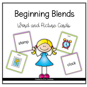 Beginning Consonant Blends Word and Picture Cards