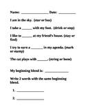 Beginning Blends Worksheets