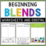 Beginning Blends Worksheets- L R S Blend (Cut and Paste)