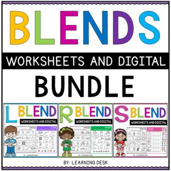 Beginning Blends Worksheets-L R S Blend Worksheets