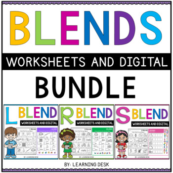 Beginning Blends Worksheets L R S Blend Worksheets Bundle By