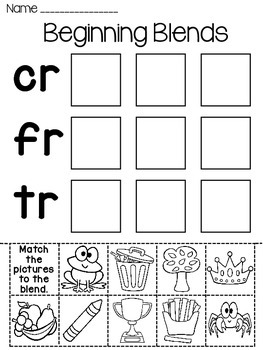 Blends Fun Worksheets (Initial Consonant Blends)