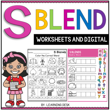Beginning Blends Worksheets - S Blends