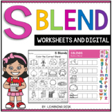 Beginning Blends Worksheets - S Blends Worksheets