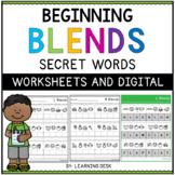 Beginning Blends Worksheets (Secret Words)