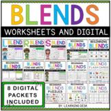 Beginning Blends Worksheets and Activities Center Bundle