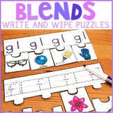 Beginning Blends Write and Wipe Puzzles