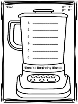 Beginning Blends: Write the Room & More!