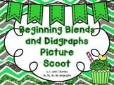 Beginning Blends and Diagraphs Picture Scoot