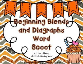 Beginning Blends and Diagraphs Word Scoot