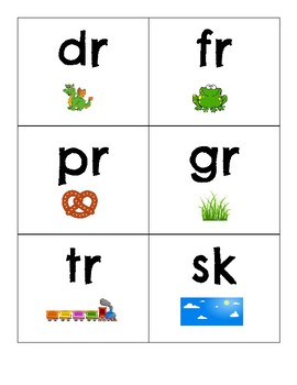 Beginning Blends and Digraphs Flash Cards