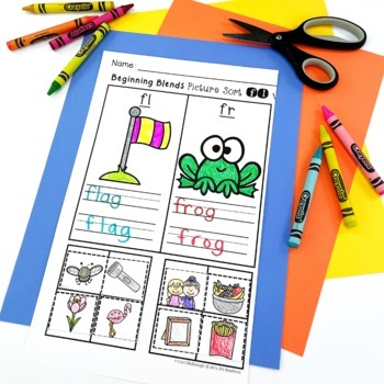 Beginning Blends And Digraphs Picture Sorts And Worksheets Tpt