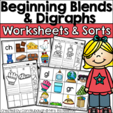 Beginning Blends and Digraphs Picture Sorts and Worksheets