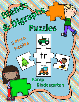 Beginning Blends and Digraphs Puzzles