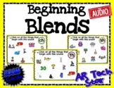 Beginning Blends - ch, ph, sh, th, wh Boom Cards w/ AUDIO Distance Learning