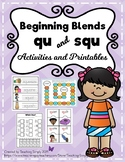 Blends squ and qu Activities and Printables