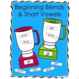 Beginning Blends with Short Vowels Word Sorts and Activity Pages