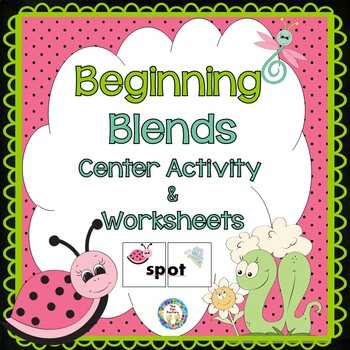 Beginning Blends with Spring Buzzy Buddies