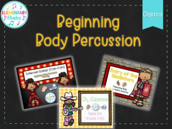 Beginning Body Percussion Bundle (Classics): Can-Can, Gladiators, Oh Susanna