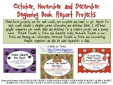 Beginning Book Report Projects (Oct. Nov. Dec.)