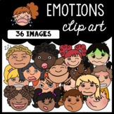Emotions Clip Art: Moveable for Paperless Resources