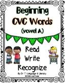 Beginning CVC Words (Vowel A)