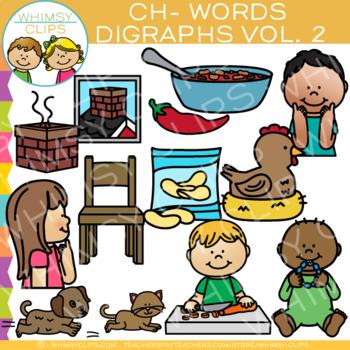 Digraphs Clip Art: Beginning CH Words Clip Art {Volume TWO}