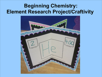 Beginning Chemistry: Element Research Project