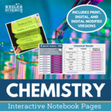 Chemistry Interactive Notebook Pages - Print and Digital Versions