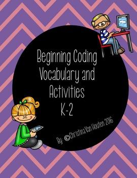 Beginning Coding Vocabulary and Activities