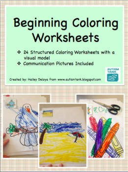 Beginning Coloring Worksheets for Kids with Autism
