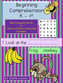 Comprehension Fill in the Blank and Seek & Find K-1st