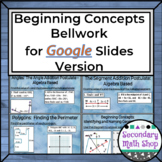 Beginning Concepts Bellwork using Google Drive
