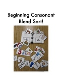 Beginning Consonant Blend Sort (ch- sh- th- wh-)