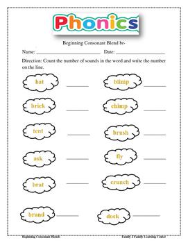 Beginning Consonant Blends Worksheets: br, fl, gl, fr, gr, spr, sc ...