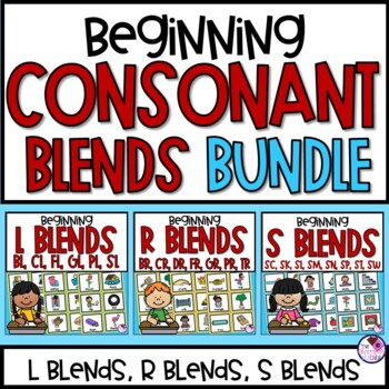 Beginning Consonant Blends ***BUNDLE of 3 UNITS***