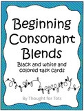 Beginning Consonant Blends, Black and White and Colored Ta