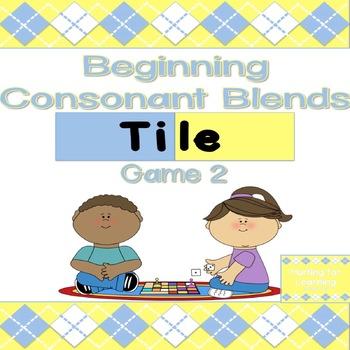 Beginning Consonant Blends Tile Game (15 MORE Consonant Blends!)