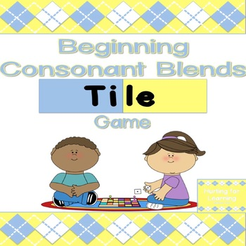 Beginning Consonant Blends Tile Game