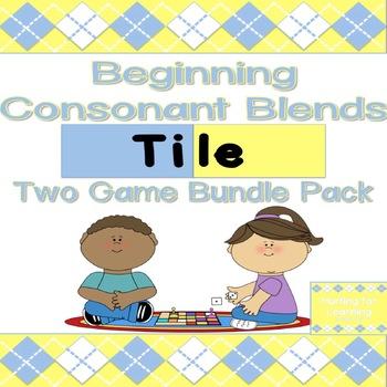 Beginning Consonant Blends Tile Games 1 & 2 Bundle Pack