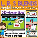 Beginning Consonant Blends Word Work R, L, S Blends Google Slides Lesson
