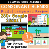 Beginning Consonant Blends Word Work R, L, S Google Slides Lesson Presentation